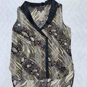 PJK snake/animal patterned blouse, size XS